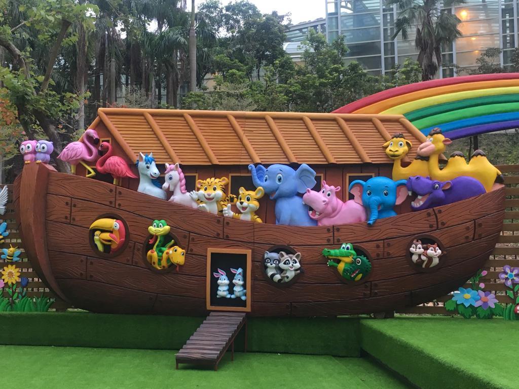 基督教香港信義會馬鞍山信義學校全新打造的「馬信方舟公園」,很有主題公園感覺。