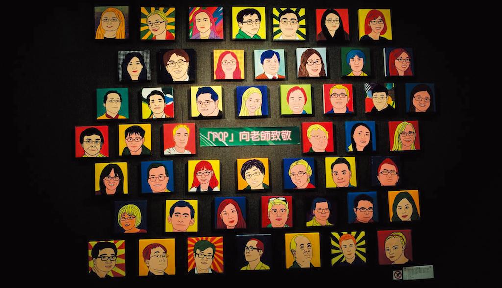 同學作品於藝術展展示。