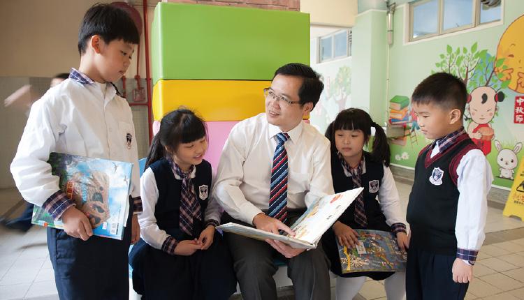 陳喜泉校長希望學生有成功感,每次成功都是自我肯定