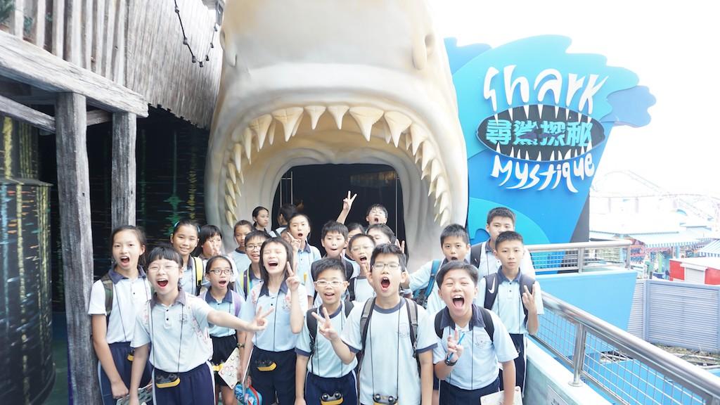 學生參與海洋公園STEM學習計劃。