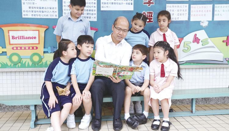 黃錦良校長讓學生在德、智、體、群、美均衡發展。