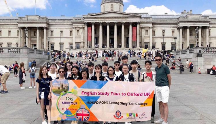 本校英文科每年主辦的英語交流團。(2019 年7 月攝於英 國牛津)