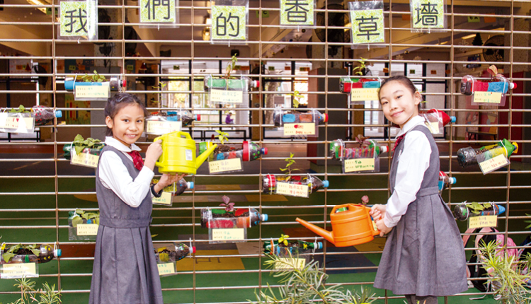 學生不但會自我管理,更主動照顧校園苗圃。
