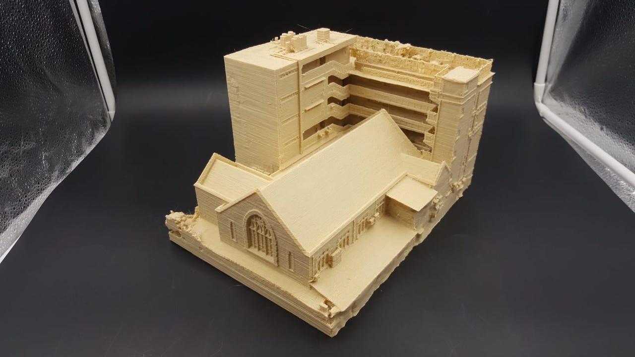 初中部校舍3D立體打印模型