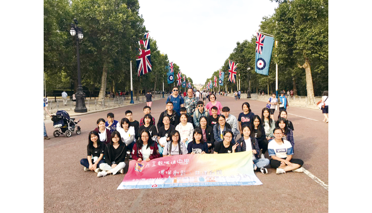 英國交流團令學生實地體驗外國文化。