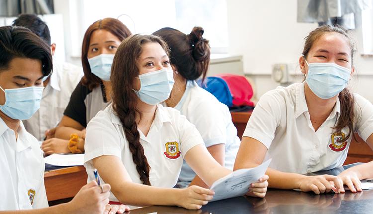 孔聖堂中學的學生來自五湖四海,超過20個國家和地區,國際化氣息濃厚。
