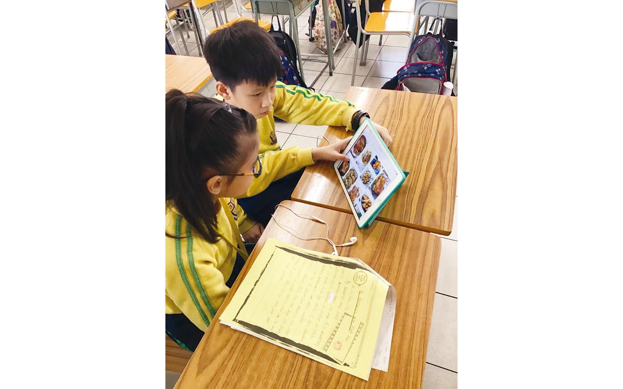 學校推動電子學習,讓學生透過網上平台閱讀及做練習。