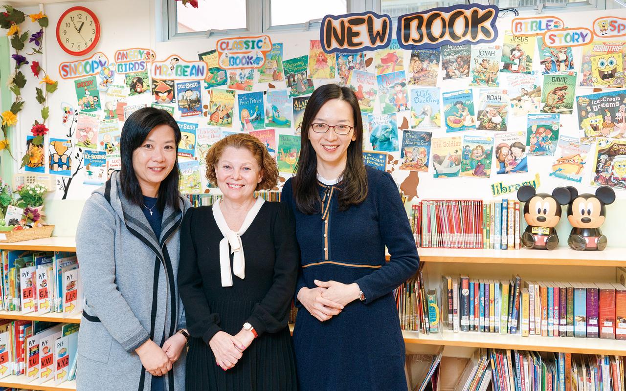 (左)劉映彤老師,(中)Miss Paula Nolan,(右)陳雅麗老師。