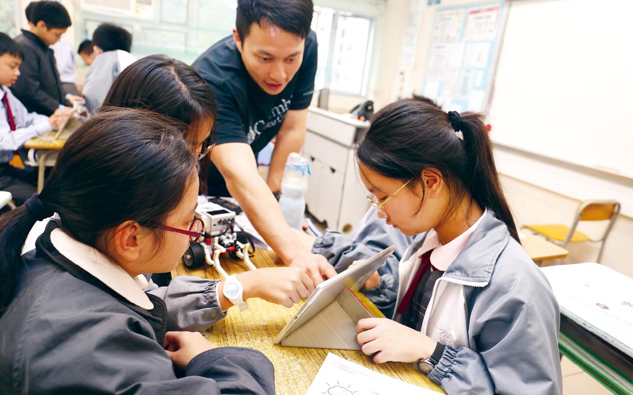 除英文科以外,該校其他科目亦會加入英語元素,讓學生有機會從學習中使用英語。