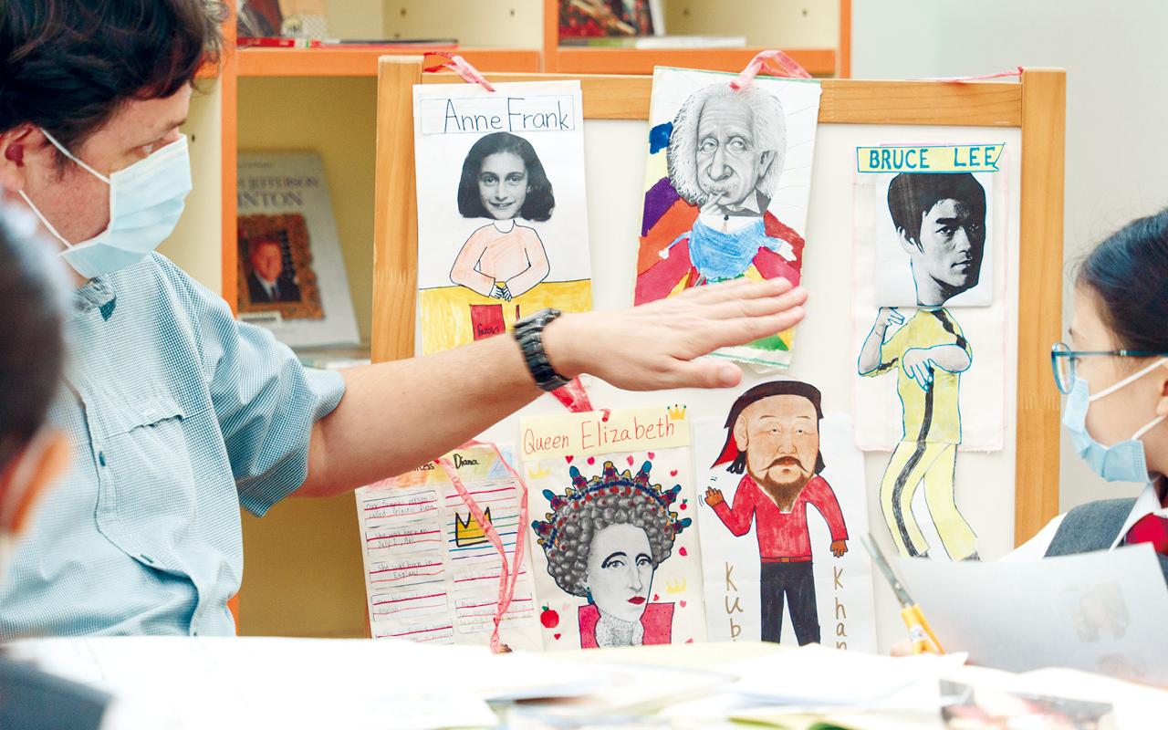 學校設學生作品展,讓學生有機會欣賞彼此的成果,互相勉勵。