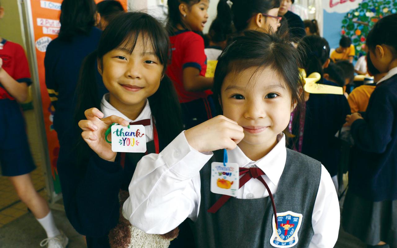 學校培養出良好的英語學習氛圍,在愉快的學習環境中成長。