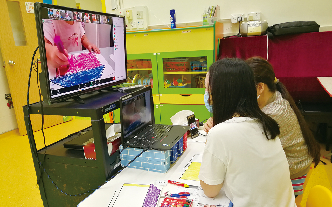 學校在停課期間設有網上學習及製作教學短片。