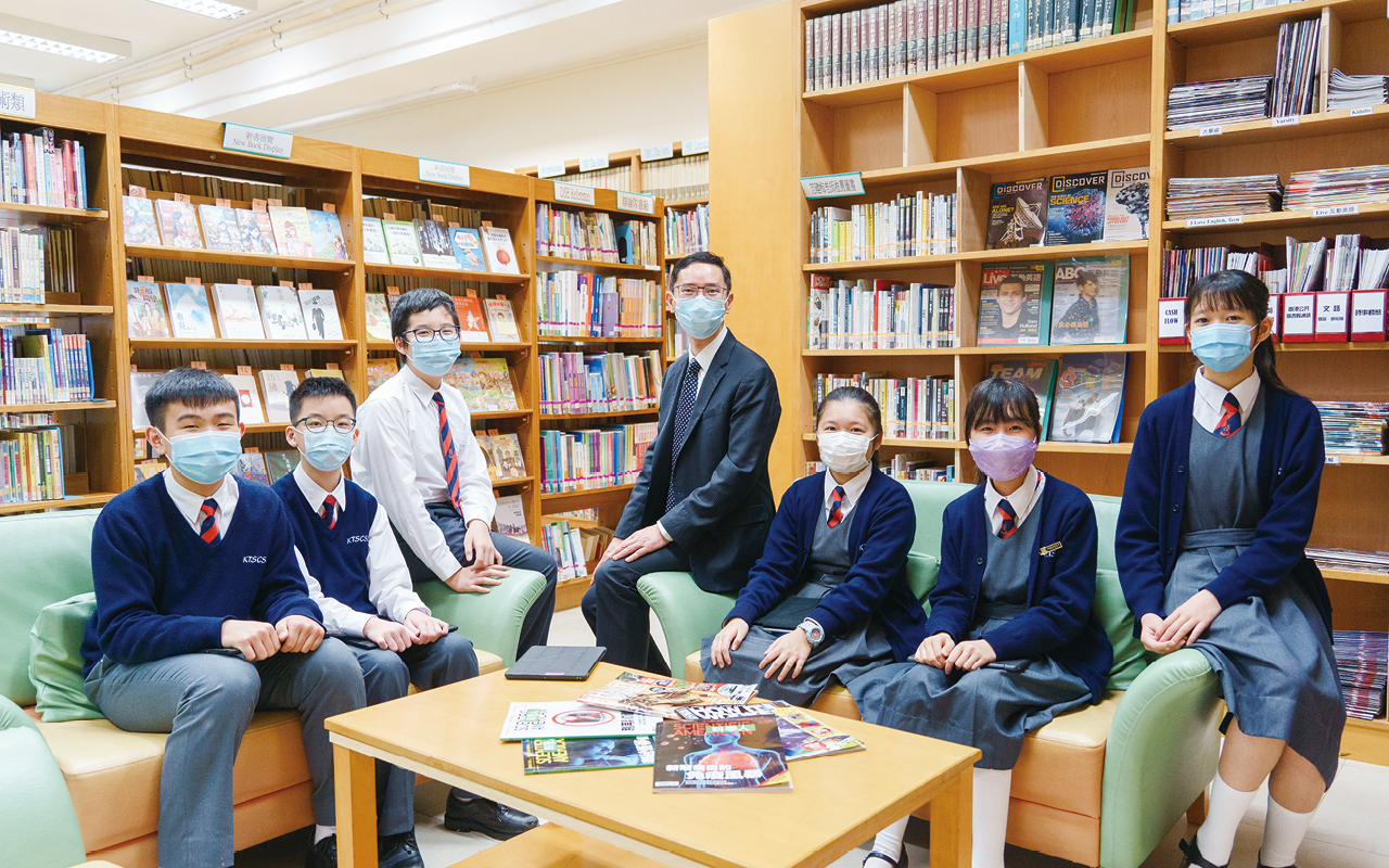 韓思騁校長笑言:「對同學來說,上學的每 天都是英語日。」