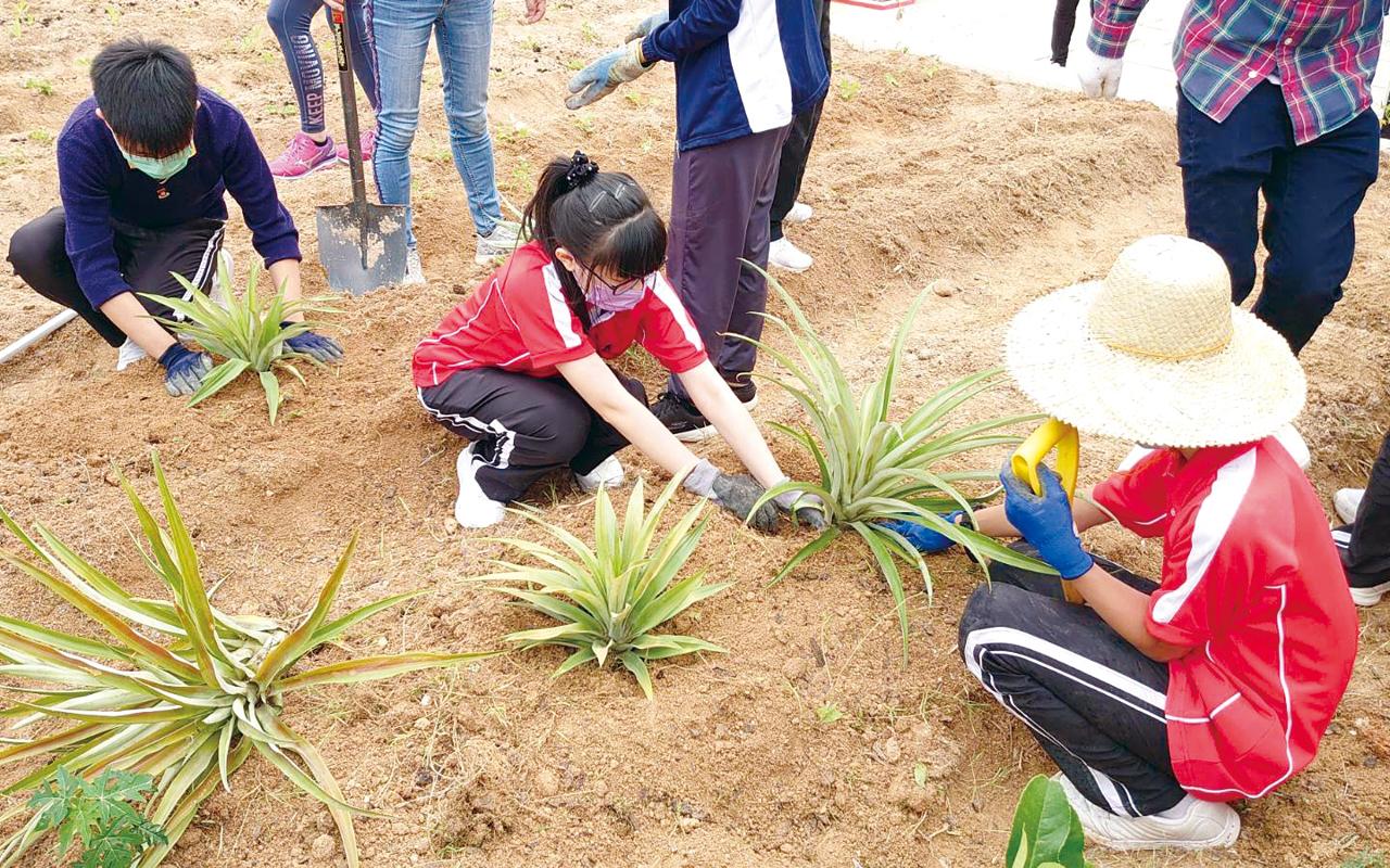 「ECOL」校園四大元素分別為環保、創意、開放、學習。