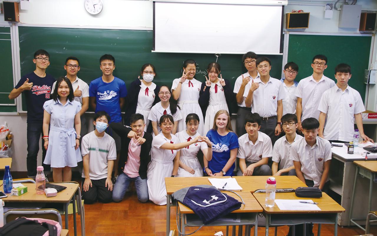 加拿大學生蒞臨本校進行英語文化交流活動。