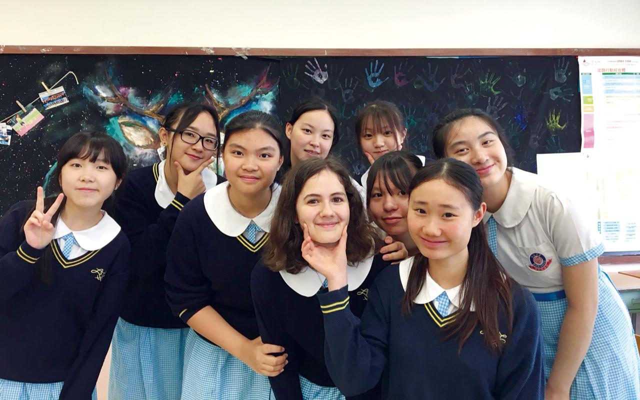 Solène Gaillard 來自法國的交流生,與同學相處融洽。