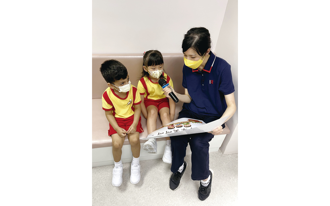 學校十分重視德育課題,鼓勵學童培養互助精神。
