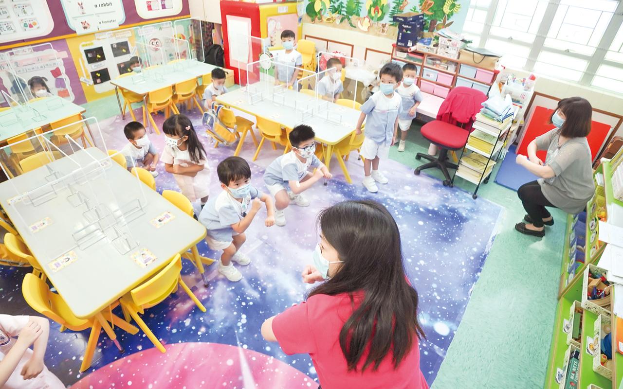 林校長指出,學校致力推動關愛校園文化,營造充滿愛的校園,讓學童享受愉快學習的環境。