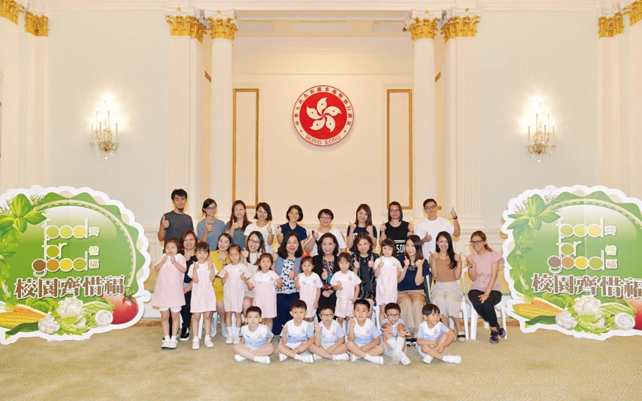 獲邀到禮賓府分享惜福學校得獎感受。