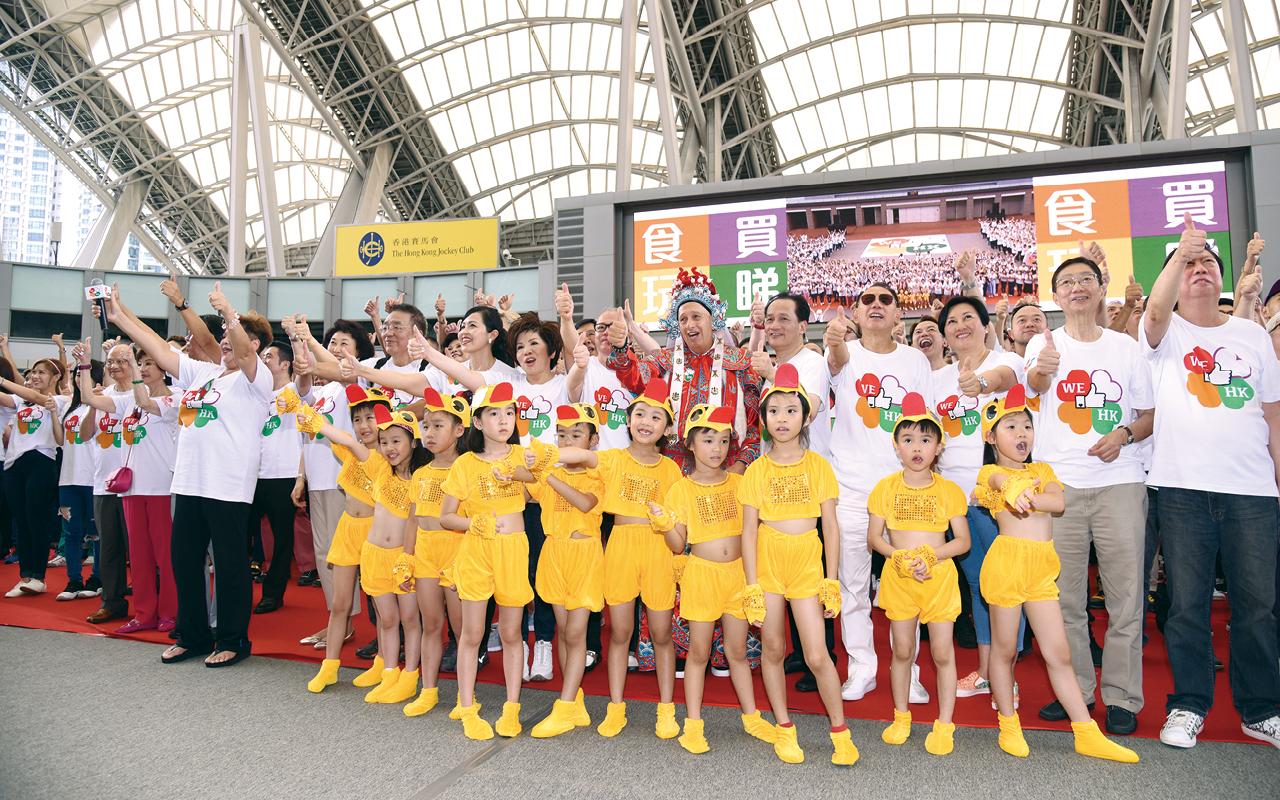 學生參加WE LIKE HK 活動開幕式。