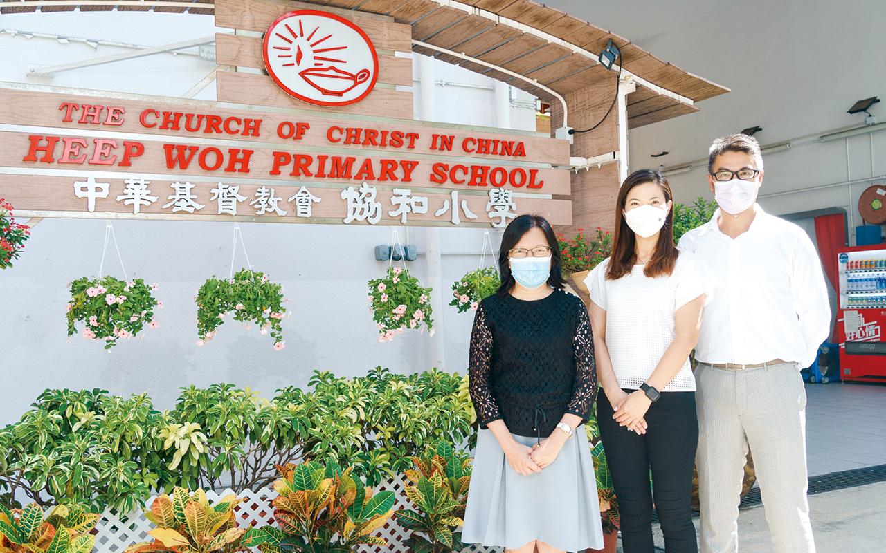 簡燕玲校長、尹淑芬副校長、譚國欣副校長一起肩負帶領學校發展的重任。