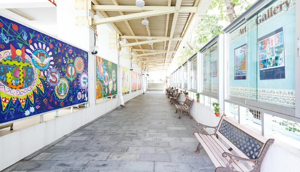 教育傳媒:校園隨處可見學生的創意。