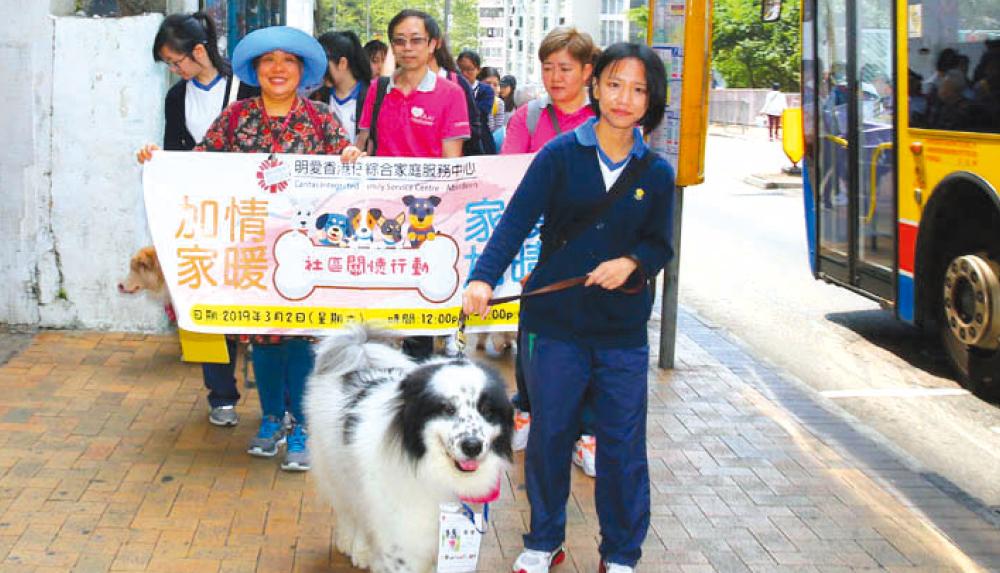 教育傳媒:寵物新春送暖巡遊,向區內居民送暖問安。