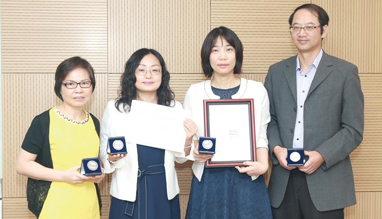 左起:語言學及現代語言系 李鳳琼博士、馬清博士、陳雪珠博士、王立勛博士