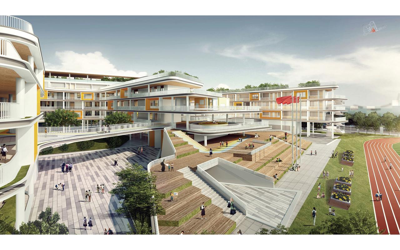 香港培僑書院深圳龍華信義學校坐落於深圳高鐵總站(深圳北站)附近,除了開辦內地課程,也將提供香港及國際課程。